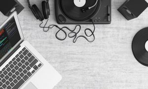 Selecting Audio at Audacity
